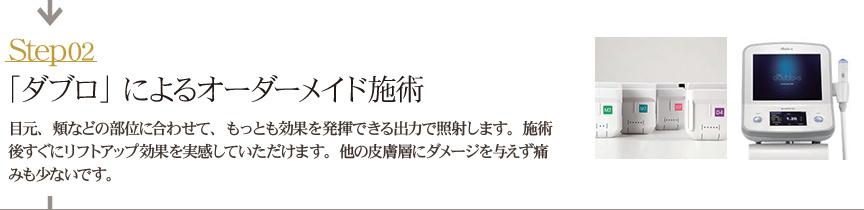 【STEP2】「ダブロ」によるオーダーメイド施術